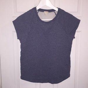 JCrew cotton shirt sleeve sweater